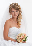 Beautiful bride. Studio portrait of beautiful bride Stock Photo