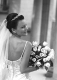 Beautiful bride. Beautiful the bride with a bouquet from tulips Royalty Free Stock Photos