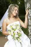 Beautiful bride. On her wedding day Royalty Free Stock Image