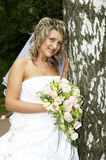 Beautiful bride. On her wedding day Royalty Free Stock Photo