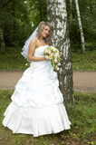 Beautiful bride. On her wedding day Stock Photo