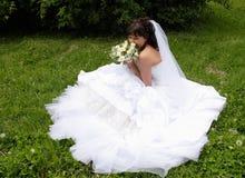 Beautiful bride. Before wedding ceremonial, summer, Siberia Royalty Free Stock Images