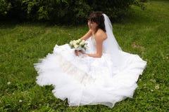 Beautiful bride. Before wedding ceremonial, summer, Siberia Stock Photography
