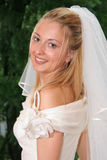 Beautiful Bride. Young bride posing in the wedding day Stock Image