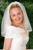 Beautiful bride. Posing in the wedding day Royalty Free Stock Photo