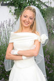 Beautiful Bride. Young bride posing in the wedding day Stock Images