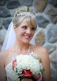 A beautiful bride. An outdoor portrait of a beautiful bride Stock Photography
