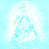 Beautiful bride. Abstract raster illustration Stock Photos