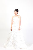 Beautiful bride asian on white background. Stock Images