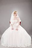 Beautiful bride and beautiful wedding dress Royalty Free Stock Images