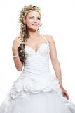 Beautiful bride blond girl in white wedding dress Stock Images