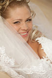 Beautiful bride with blond hair Royalty Free Stock Photography