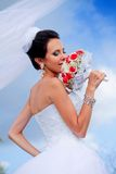 Beautiful bride with bouquet Stock Photography