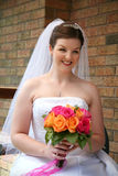 Beautiful Bride with Bouquet Royalty Free Stock Photo