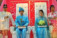 Beautiful bride and bridegroom Royalty Free Stock Photo
