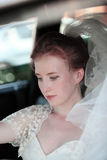 Beautiful bride. Beautiful the bride in car Stock Images