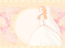 Beautiful bride card Stock Images