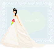 Beautiful bride card Royalty Free Stock Photography