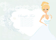 Beautiful bride card Stock Photos