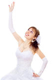 Beautiful bride catch Royalty Free Stock Photography