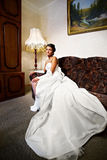 Beautiful Bride in a classical interior at home Royalty Free Stock Photo