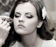 Beautiful bride do makeup Royalty Free Stock Image