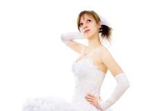 Beautiful bride dreams Stock Photos