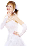 Beautiful bride dreams Royalty Free Stock Photography
