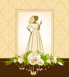Beautiful bride in dress. Royalty Free Stock Images