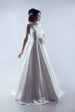 Beautiful Bride in elegant wedding dress. Fashion lady. Studio p. Hoto royalty free stock photo