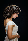 Beautiful bride with fashion wedding hair-style Stock Images