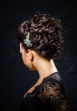 Beautiful bride with fashion wedding hair-style Royalty Free Stock Photo