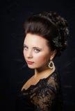 Beautiful bride with fashion wedding hair-style Stock Photos