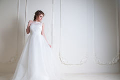 Beautiful bride with fashion wedding hairstyle and make up Stock Images