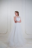 Beautiful bride with fashion wedding hairstyle and make up Royalty Free Stock Photo