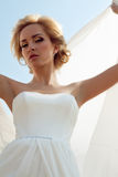 Beautiful bride with fashion wedding hairstyle Royalty Free Stock Images