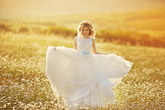 Beautiful bride in a field Royalty Free Stock Photos