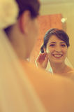 Beautiful bride getting ready for wedding Royalty Free Stock Photo