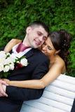 Beautiful bride and groom Stock Image