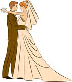 Beautiful bride and groom. Illustration of beautiful bride and groom Stock Photo