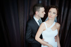 A beautiful bride and groom. Portrait of beautiful bride and groom Royalty Free Stock Image