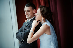 A beautiful bride and groom Stock Photos