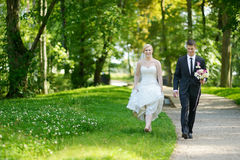Beautiful bride and groom Stock Photo