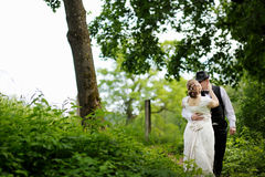 Beautiful bride and groom Royalty Free Stock Photo
