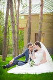 Beautiful bride and groom Royalty Free Stock Photography