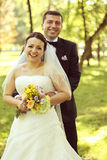 Beautiful bride and groom Royalty Free Stock Photos