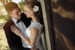 Beautiful bride and groom. Before wedding Royalty Free Stock Photography