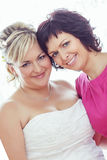 Beautiful bride and her sister Stock Photos