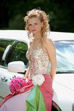 Beautiful Bride on her wedding day Royalty Free Stock Image