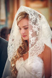 Beautiful bride in her wedding day Royalty Free Stock Image